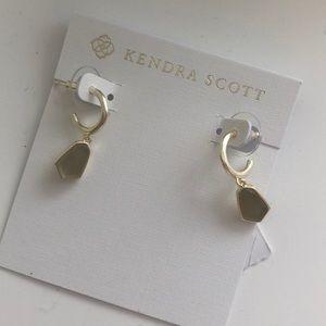 Kendra Scott gold clove huggies